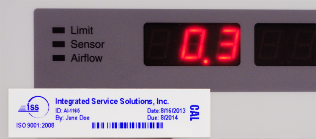 Electronic Calibration Services Label